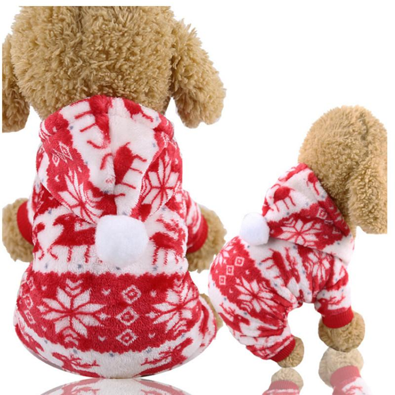 Christmas Fleece Dog Hoodie - Dogs and Cats Boutique
