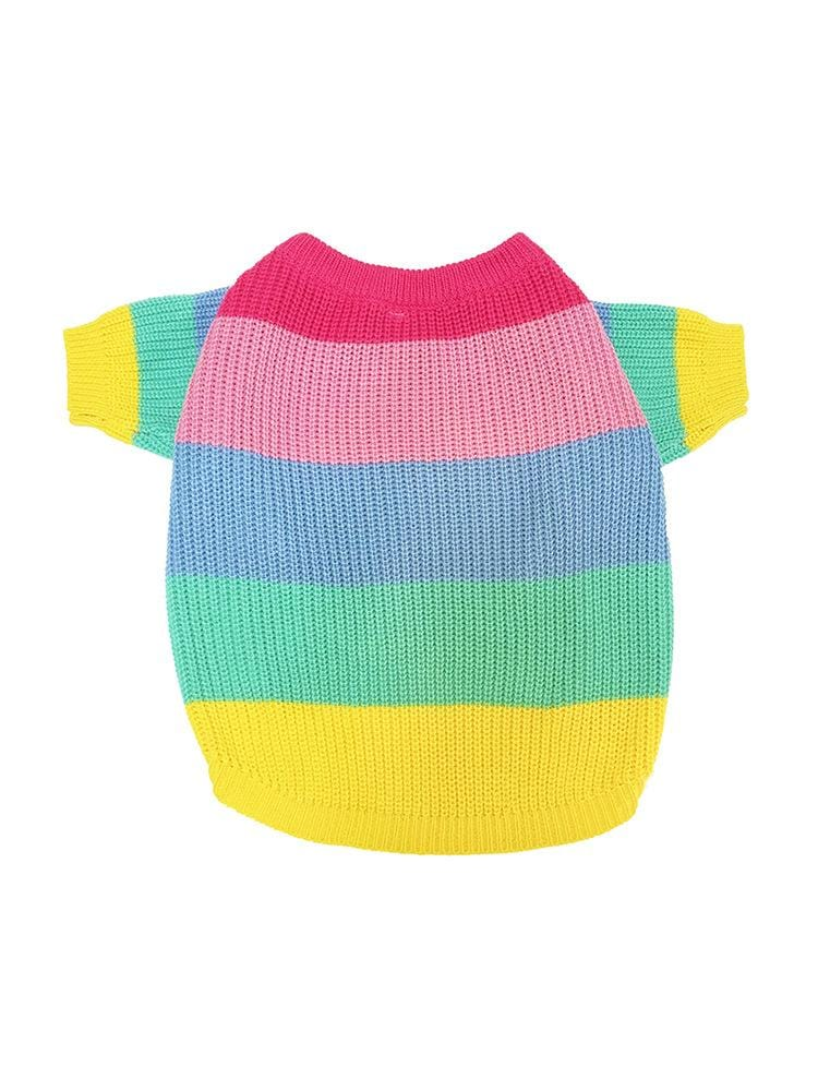 Rainbow Stripes Dog Sweater - Dogs and Cats Boutique