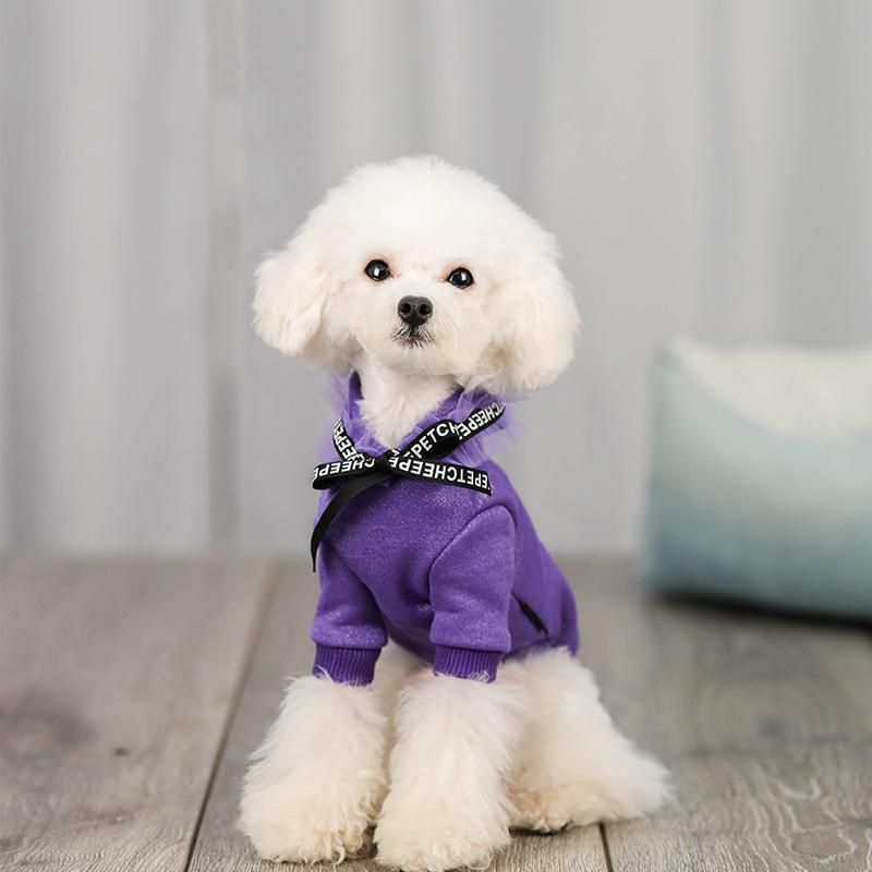 Solid Ribbed Dog Hoodie - Dogs and Cats Boutique