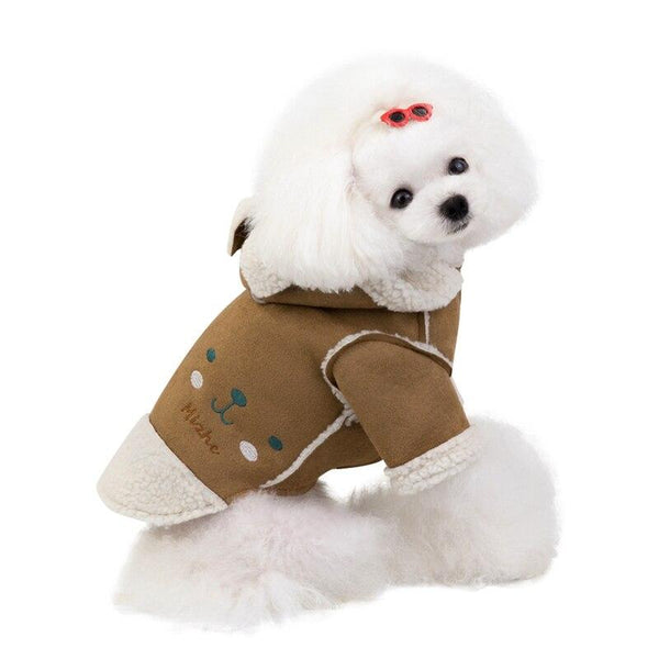 Velvet Teddy Lapel Jacket - Dogs and Cats Boutique