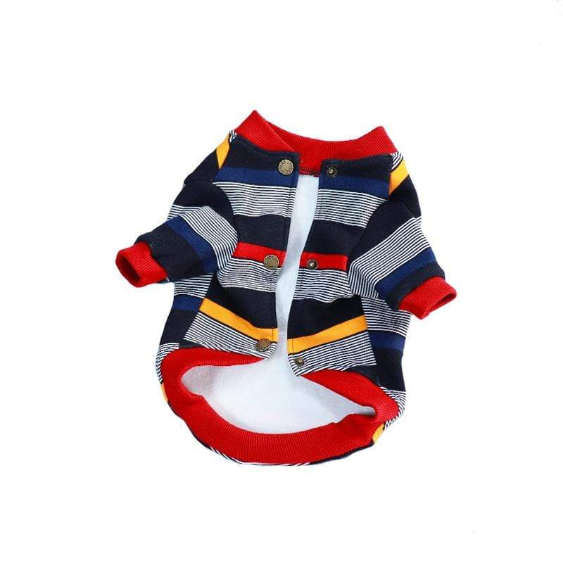Striped Button Up Dog Sweater - Dogs and Cats Boutique