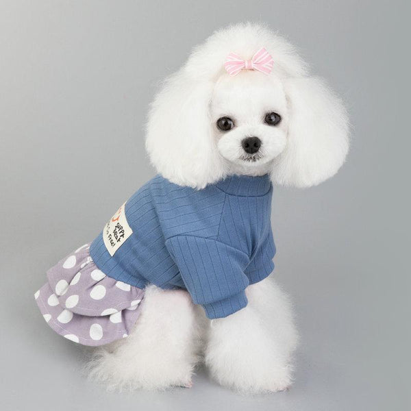 Polka Dot Sweater Pet Dress - Dogs and Cats Boutique