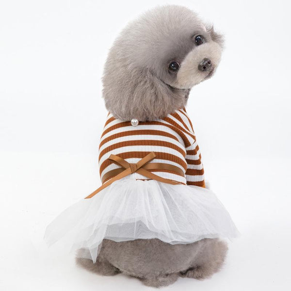 Striped Tutu Dog Dress - Dogs and Cats Boutique