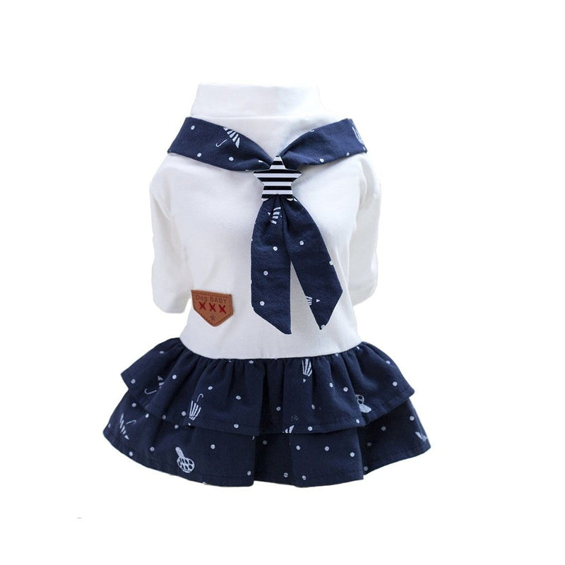 Umbrella Navy Dog Dress - Dogs and Cats Boutique