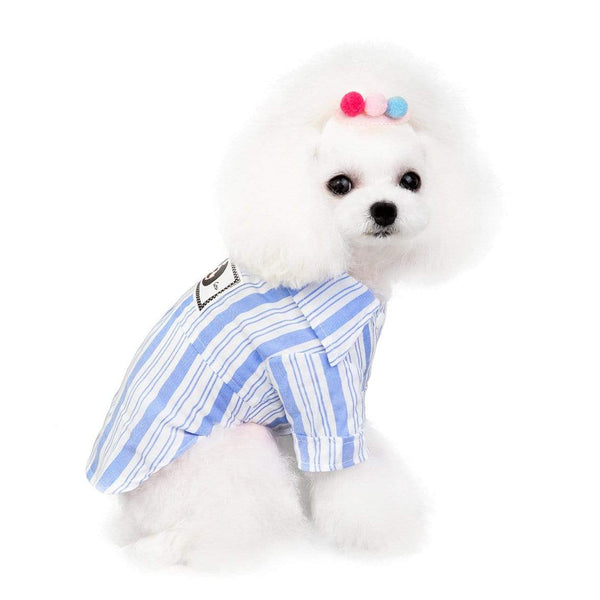 Dog Striped Pet Shirt - Dogs and Cats Boutique