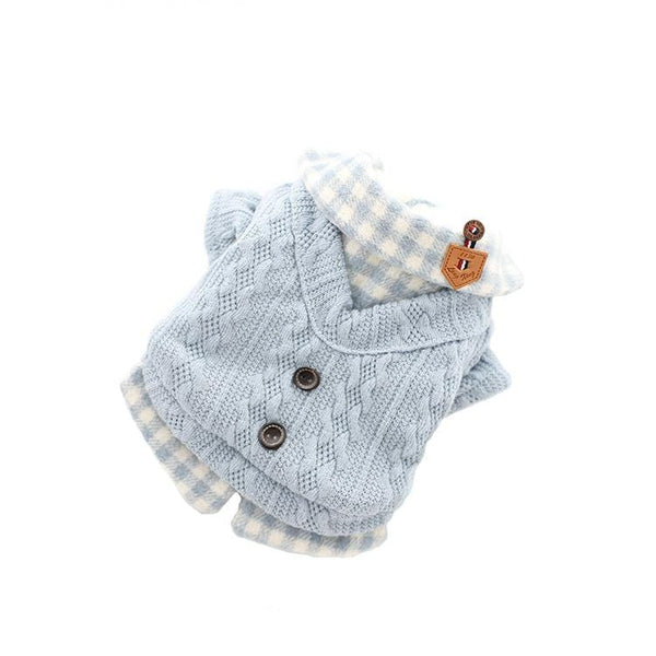 Woolen Plaid Dog Sweater - Dogs and Cats Boutique