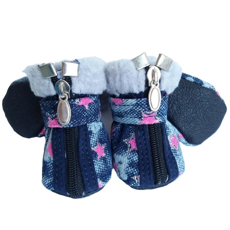 Teddy VIP Denim Dog Shoes - Dogs and Cats Boutique