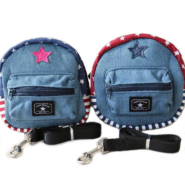 Star Denim Pet Schoolbag - Dogs and Cats Boutique