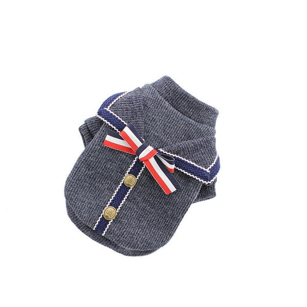 Bowknot Striped Dog Sweater - Dogs and Cats Boutique