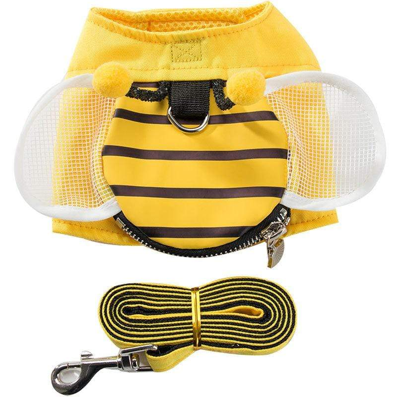 Striped Bee Dog Harness With Leash - Dogs and Cats Boutique