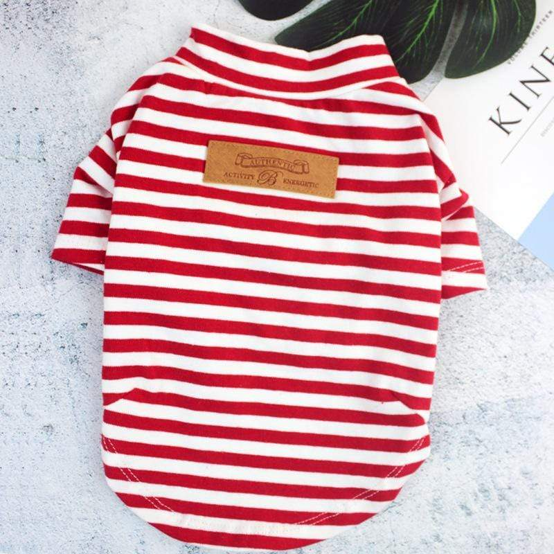Puppy's Striped Shirts - Dogs and Cats Boutique