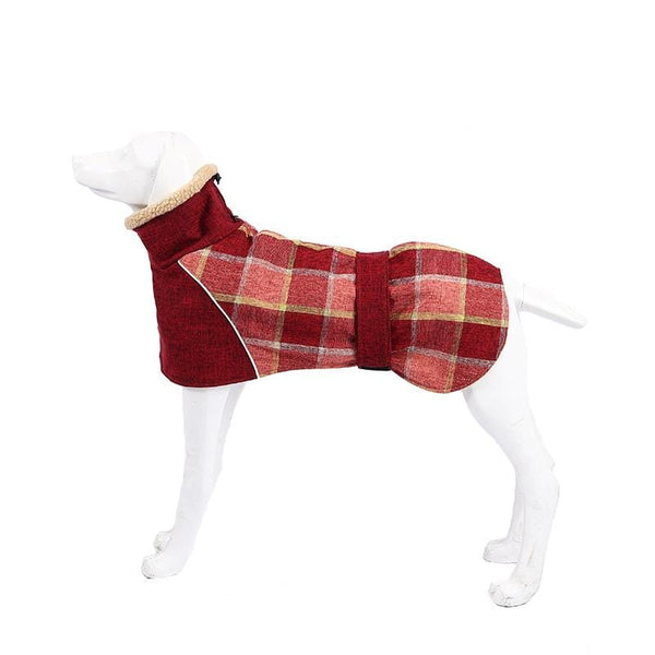 Wool Plaid Dog Coat - Dogs and Cats Boutique