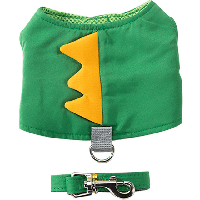 Green Dino Puppy Harness Set - Dogs and Cats Boutique