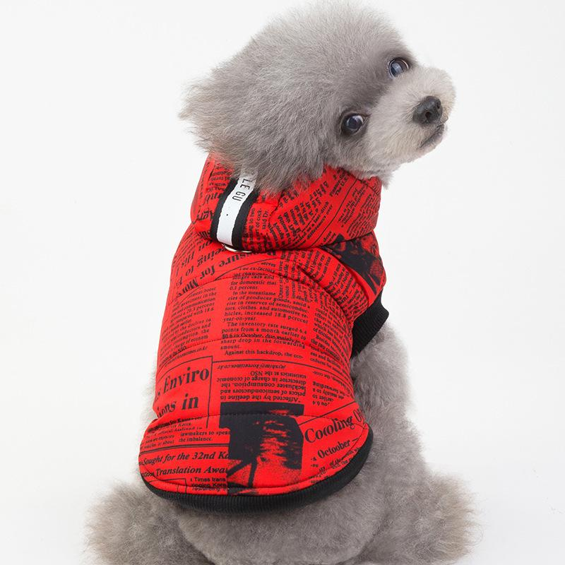 Newspaper Cotton Dog Hoodie - Dogs and Cats Boutique