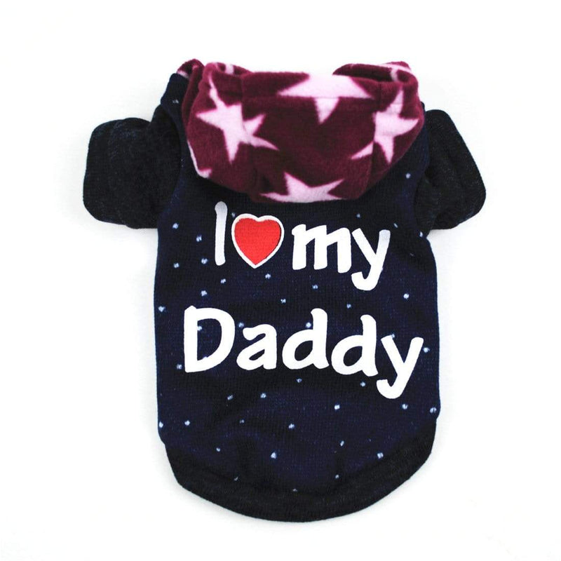 I Love Daddy Dog Hoodie - Dogs and Cats Boutique