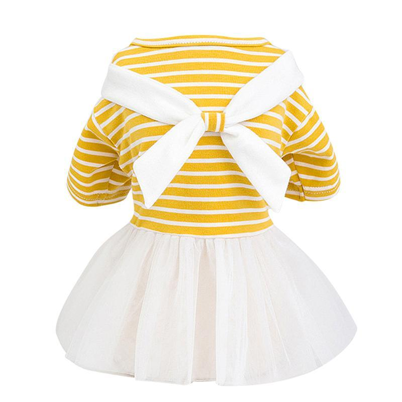White Bowtie Dog Dress - Dogs and Cats Boutique