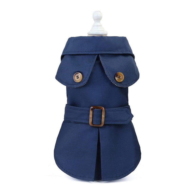 Button Belted Dog Coat - Dogs and Cats Boutique