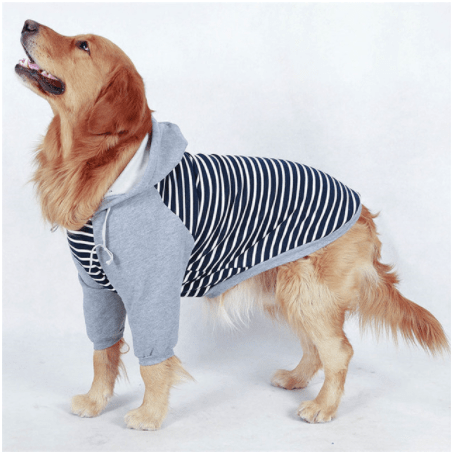 Striped Hooded Dog Sweater - Dogs and Cats Boutique