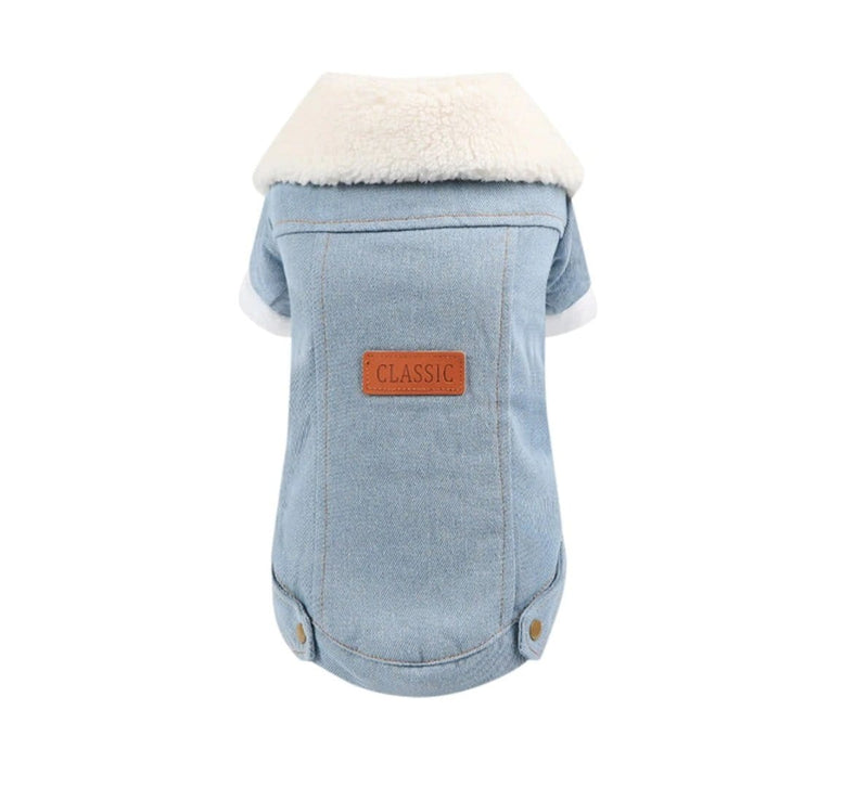 Winter Dog Denim Jacket - Dogs and Cats Boutique