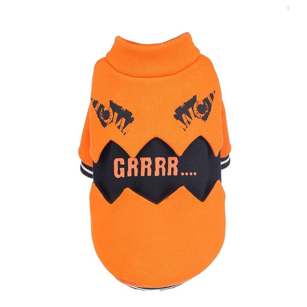 Halloween Pumpkin Pet Sweater - Dogs and Cats Boutique
