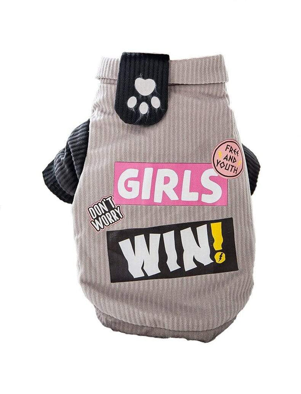Girls Win Dog Sweater - Dogs and Cats Boutique