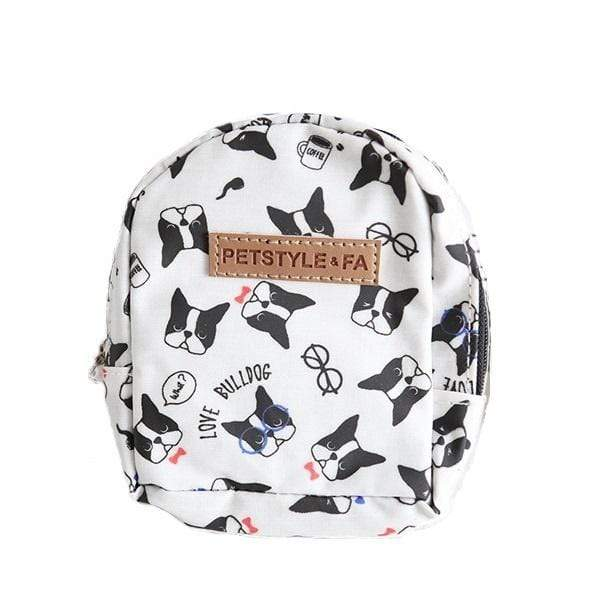 Bulldog Print Backpack - Dogs and Cats Boutique