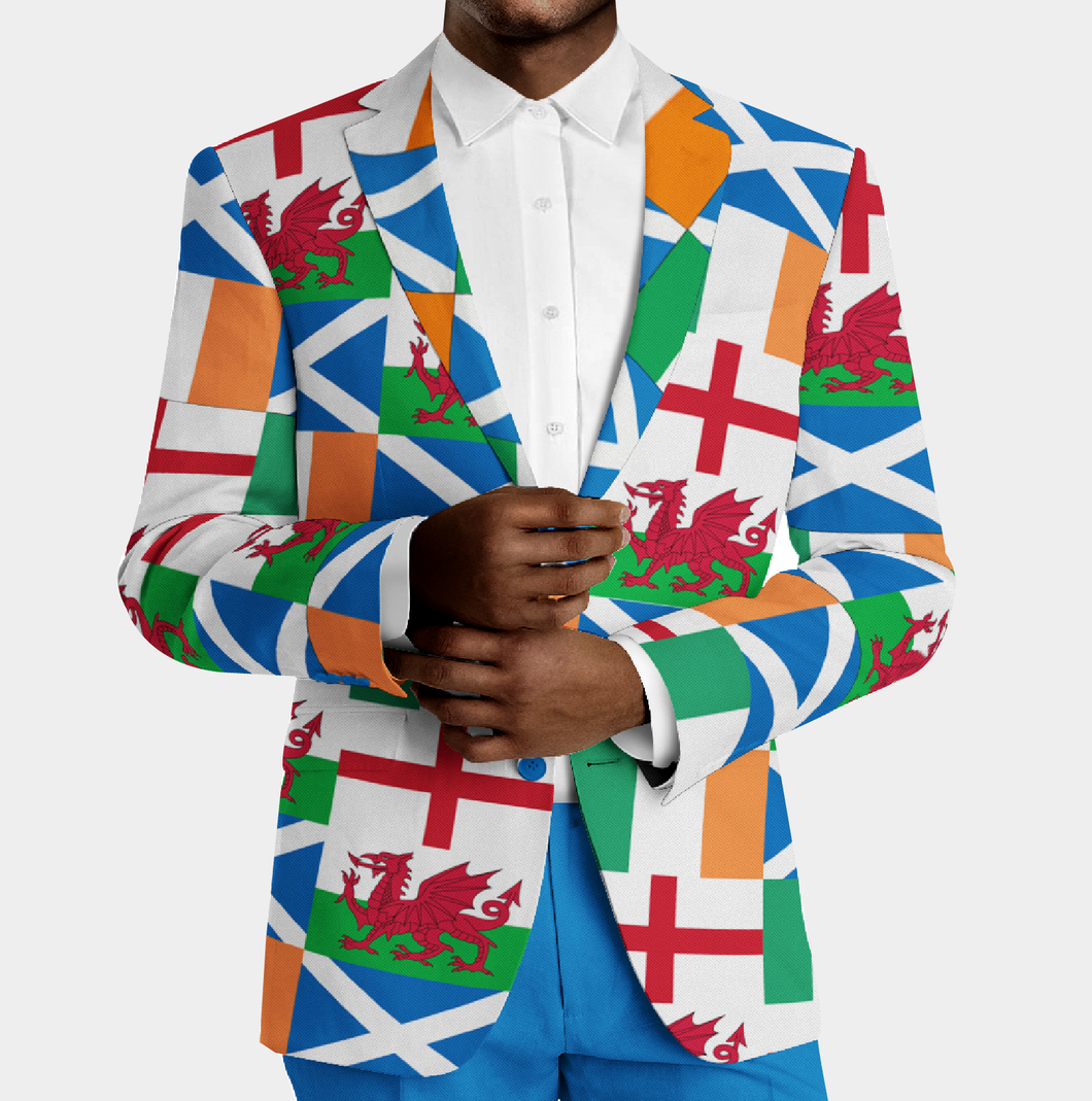 6 Nations Rugby Blazer - Six Nations Blazer - Team Blazers