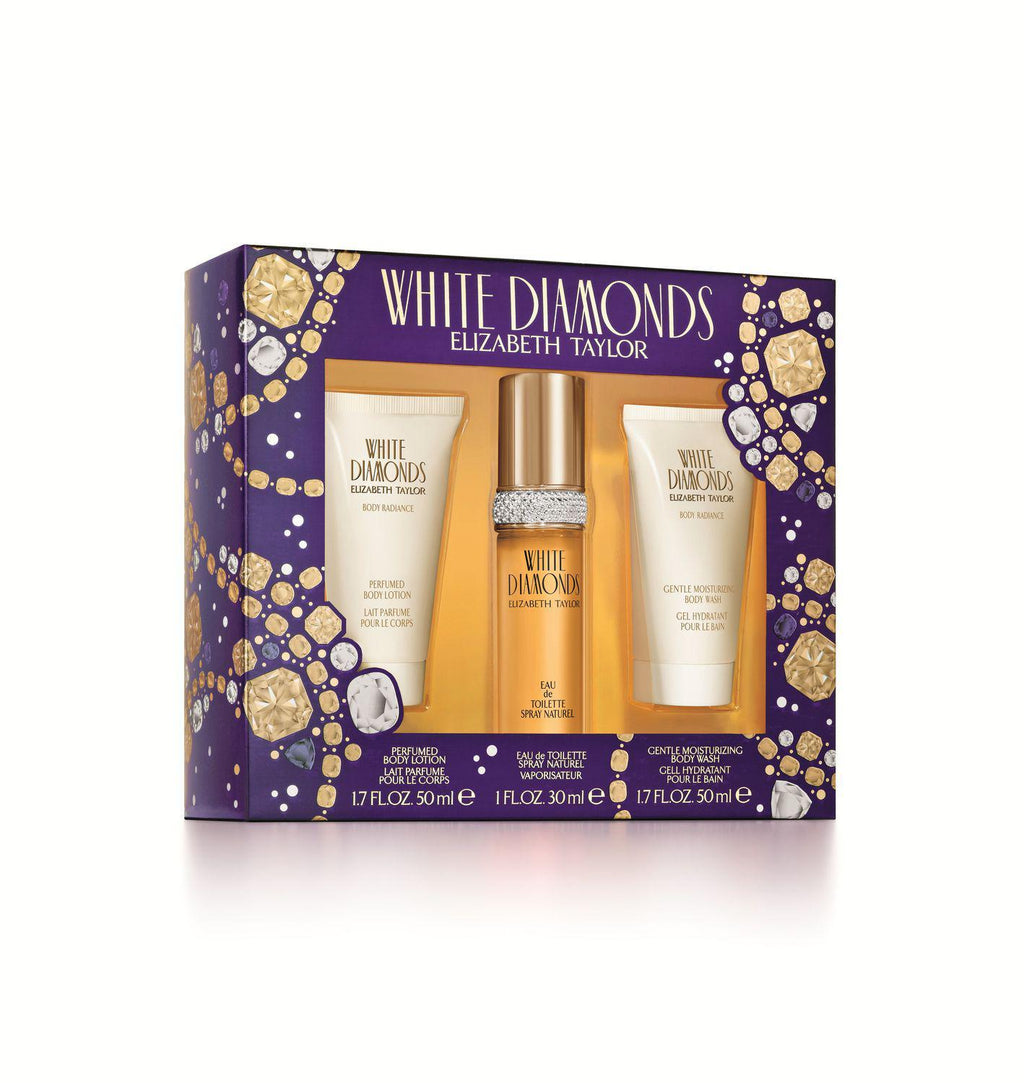 For Her: Elizabeth Taylor White Diamonds 3 Piece Gift Set
