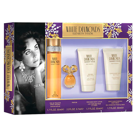 For Her: White Diamonds 4-PC Gift Set - CosmeticsWarehouseOutlet&Perfumery.