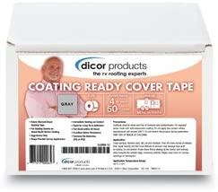 "DICOR RP-CRCT-4-1C - Dicor Coating Ready Cover Tape, Adhesive Back, 4""X50' RP-CRCT-4-1C - Flair Distribution"