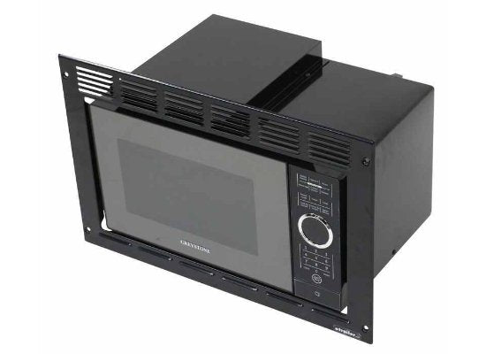 Greystone Built-in Microwave with Trim Kit - 0.9 Cu Ft - Black | Flair Distribution - Flair Distribution