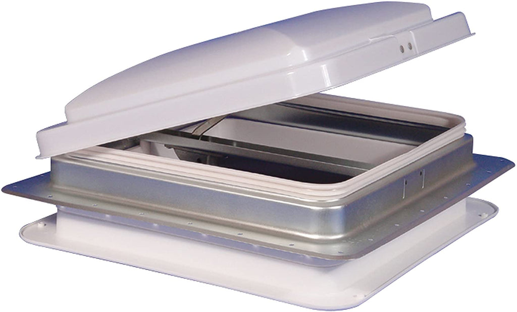 "Heng's 14"" RV Camper Trailer Universal White Cargo Roof Vent 71111-C - Flair Distribution"