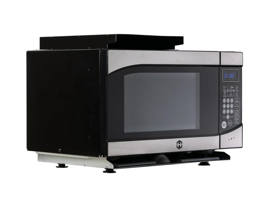 RV Microwave | .9 Cubic Ft Black Hengs Microwave with Trim Kit | 900 Watt | Flair Wholesale - Flair Distribution