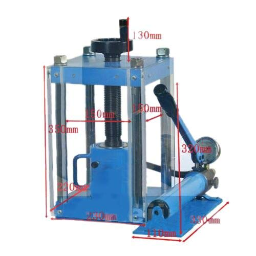 24T Lab Small Manual Compact Hand Press Machine for Lab Powder Making
