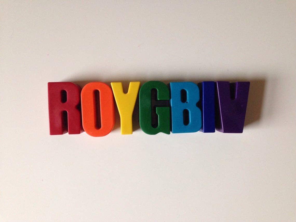 ROYGBIV Eco-Friendly Crayons