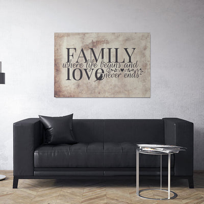 Family Life Love Canvas Wall Art