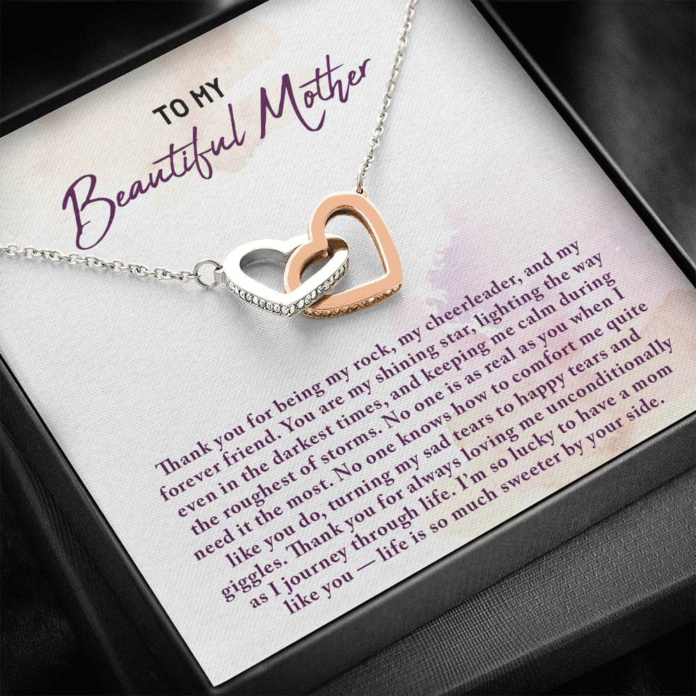 Mother Interlocked Hearts Necklace