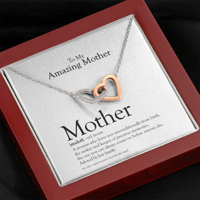 Definition Of Mother Interlocked Hearts Necklace