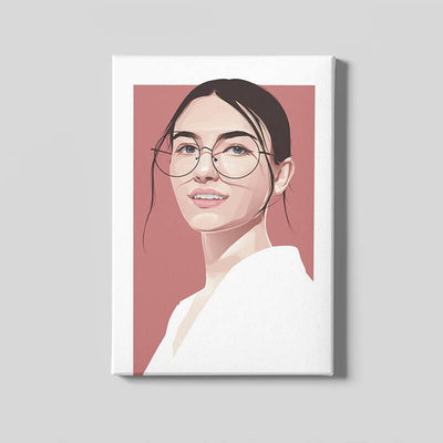 Stylish Vector Portrait