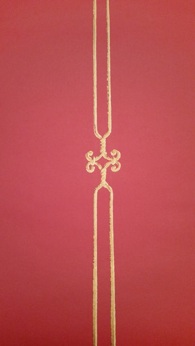 Gold Ironwork Stripe on Reddish Background Wallpaper - all4wallswall-paper