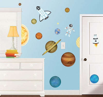 Peek a Boo Peel & Stick Outer Space Wall Appliques - all4wallswall-paper