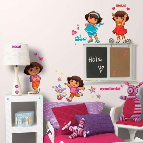 Dora the Explorer Peel & Stick Appliques - all4wallswall-paper