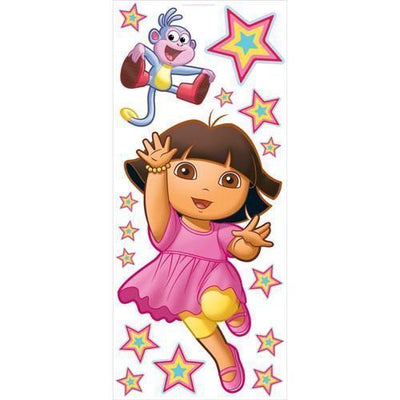 Dora & Boots Giant Peel & Stick Nickelodeon Mini Mural - all4wallswall-paper