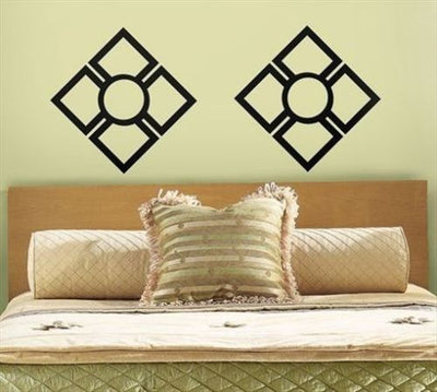 Roommates Oriental Squares Peel & Stick Mural Appliques - all4wallswall-paper