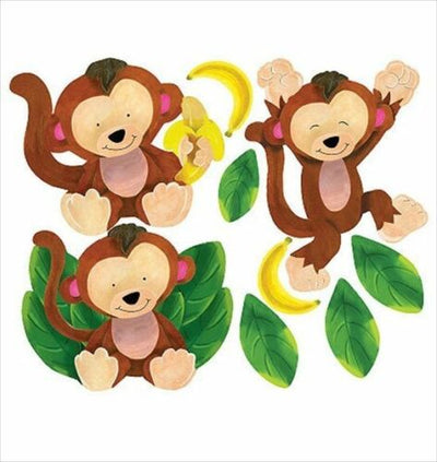 Baby Monkey Peel and Stick Appliques - all4wallswall-paper