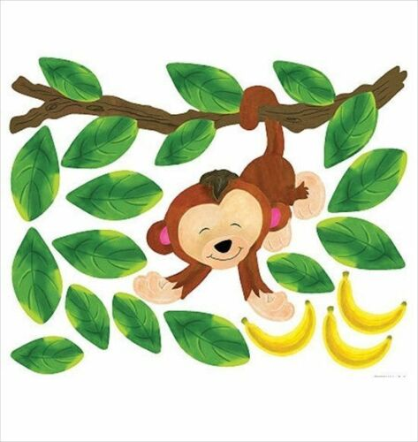 Baby Monkey Peel and Stick Appliques
