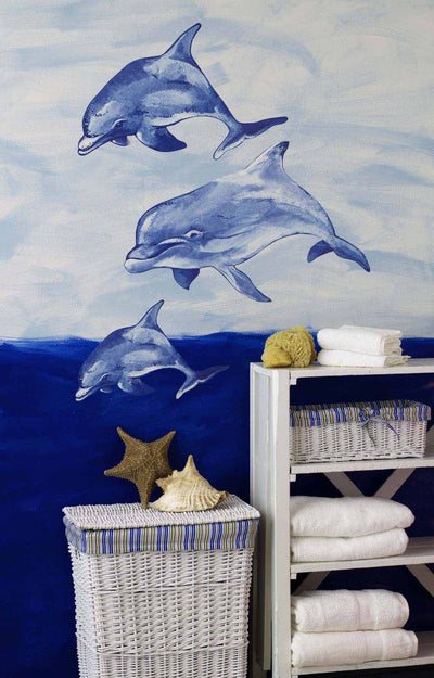 Three Dolphin Wallies Mini Mural