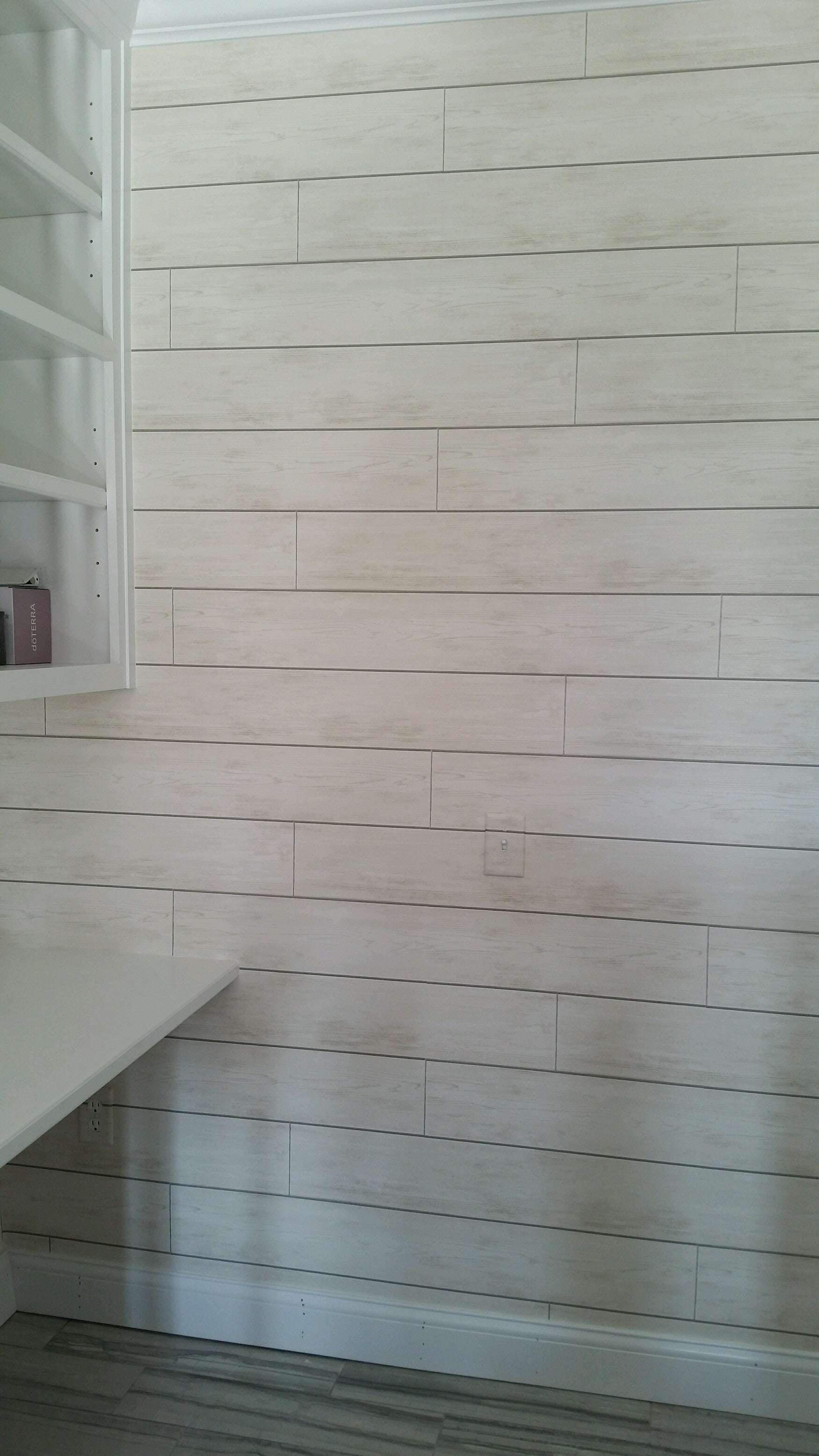 Magnolia Home Joanna Gaines Off White Shiplap Wood On Sure Strip Wallp All 4 Walls Wallpaper
