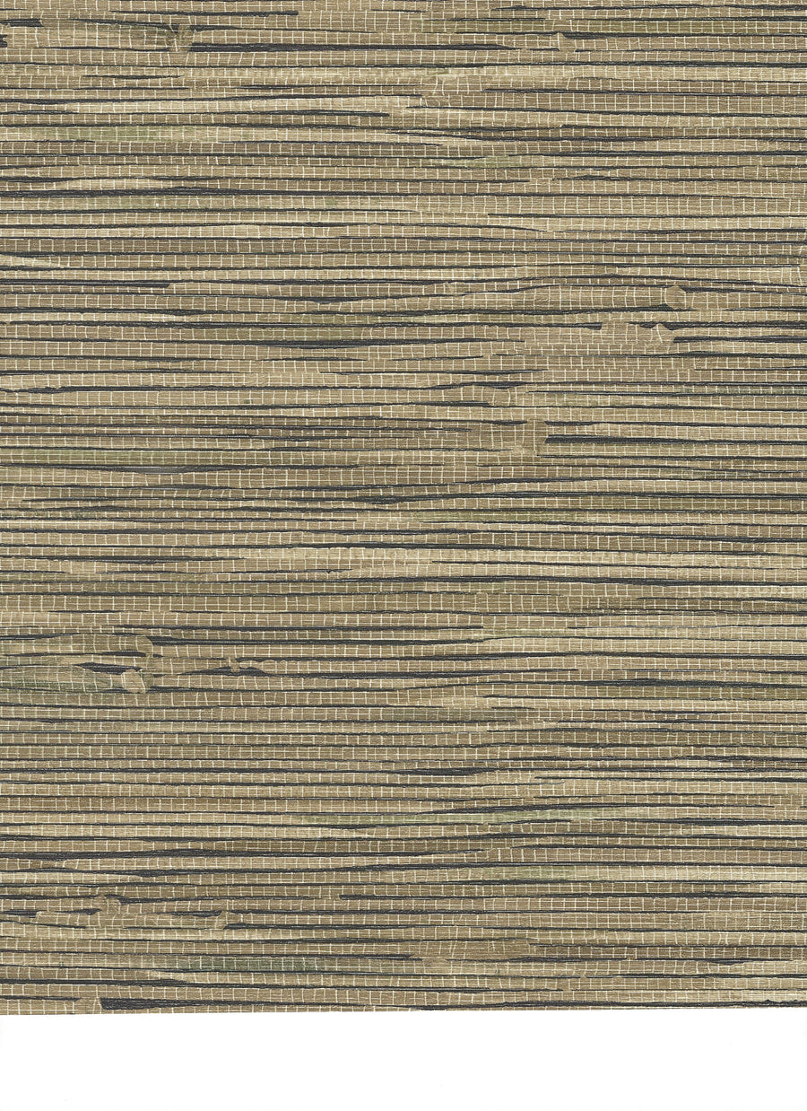 Beige and Olive Green Faux Grasscloth on Black Background Wallpaper - all4wallswall-paper