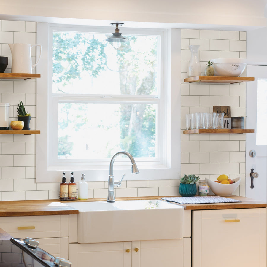 Soft White Subway Tile on Easy Walls Wallpaper by Chesapeake